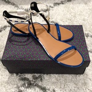 Tory Burch Leather Ankle Strap Jelly Sandal
